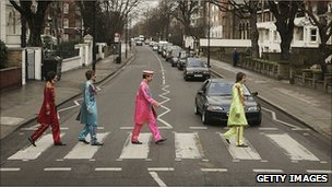 The crossing is described as a Mecca for Beatles fans