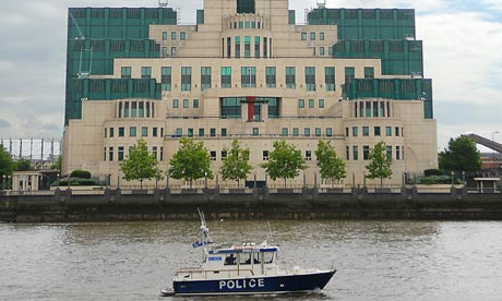 The headquarters of MI6 on the banks of the Thames in London. Photograph: Bertrand Langlois/AFP/Getty Images