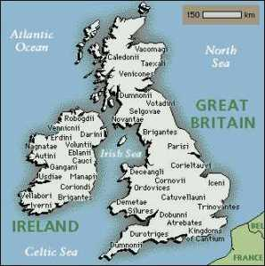 Celtic Britain was dominated by a number of tribes, each with their own well-defined territory. It is thanks to Roman chroniclers, such as Strabo, Julius Caesar, and Diodorus, that the names of individual tribes are known to us today, albeit in Romanized form.