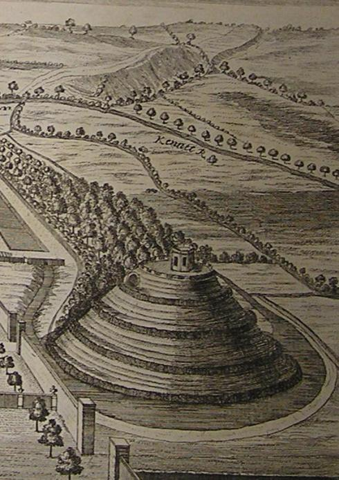 "William Stukeley's 1723 image of Marlborough ""Mount"""