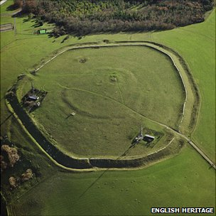 The Trundle near Chichester, Sussex, is one of the first large monuments built in Britain