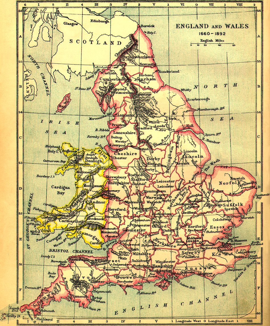 Map Of England 1600.A History Of English Towns Wessex Guided Tours