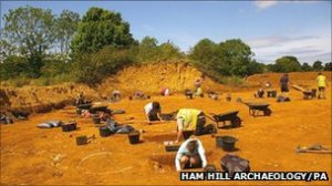 The Ham Hill Iron Age hill fort site spreads over 80 hectares making it the largest in Britain