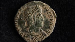 Roman coins found by two local men led to the discovery of a town