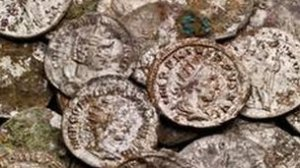 The coins were found close to the Roman Baths