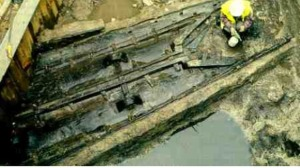 The Dover Boat after it was discovered in 1992 Photo: Dover Museum