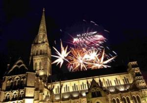 Salisbury Cathedral New Year Fireworks