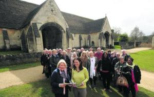 Travel company representatives during their visit to Bradford on Avon with, in the foreground, Fiona Errington from Visit Wiltshire and Julie Cooper from the town's Tourist Information Centre