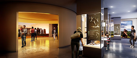 Artist's impression of the permanent exhibition which features, among other things, precious objects on loan from the Wiltshire Heritage Museum and the Salisbury and South Wiltshire Museum