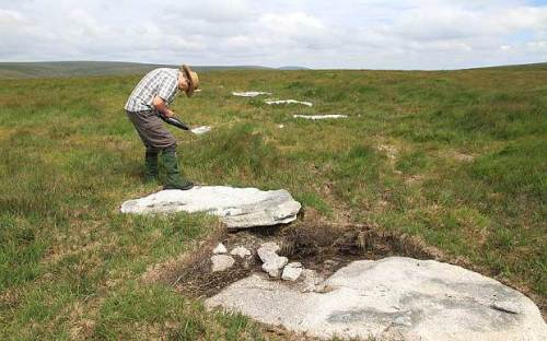 Geophysical testing at the Sittaford Tor site has enabled researchers to date it to at least 4,000 years ago. Photo: Dartmoor National Park Authority